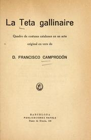 Cover of: La teta gallinaire