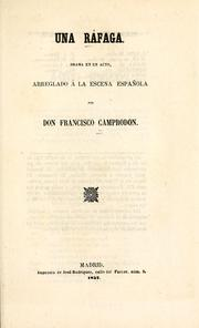 Cover of: Una ráfaga