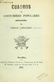 Cover of: Cuadros de costumbres populares andaluces