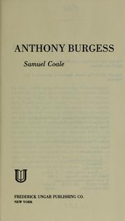 Cover of: Anthony Burgess