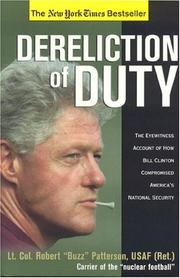 Cover of: Dereliction of Duty