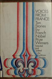 Cover of: Voices from France | Miriam Morton