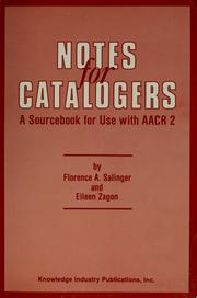 Cover of: Notes for catalogers | Florence A. Salinger