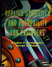 Cover of: Applied statistics and probability for engineers | Douglas C. Montgomery