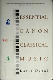 Cover of: The essential canon of classical music