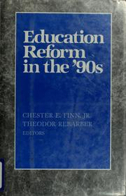Cover of: Education reform in the '90s