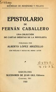 Cover of: Epistolario