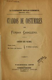 Cover of: Cuadros de costumbres