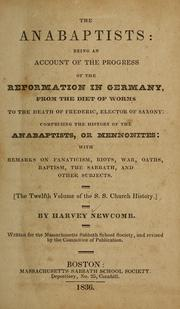 Cover of: The Anabaptists | Harvey Newcomb