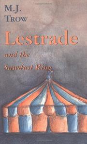Cover of: Lestrade and the sawdust ring: Number XIII in the Lestrade Mystery Series (Lestrade Mystery, No 13)