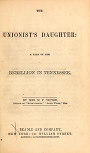 Cover of: The Unionist's daughter
