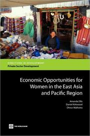 Cover of: Economic Opportunities for Women in the East Asia and Pacific Region: A Regional Overview
