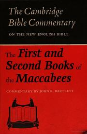 The First and Second Books of the Maccabees