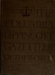 Cover of: The Columbia Lippincott gazetteer of the world by Leon E. Seltzer