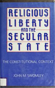 Cover of: Religious liberty and the secular state