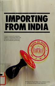 Cover of: Importing from India |