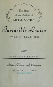 The story of the author of Little women by Cornelia Meigs