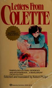 Cover of: Letters from Colette