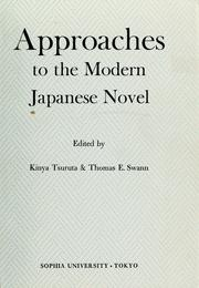 Cover of: Approaches to the modern Japanese novel