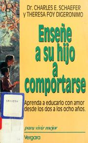 Cover of: Enseńe a su hijo a comportarse