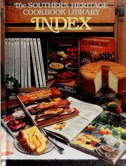 Cover of: The Southern heritage cookbook library index. | Oxmoor House