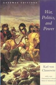 Cover of: War, Politics, and Power