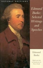 Cover of: Selected writings and speeches