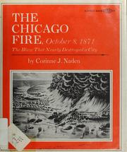 Cover of: The Chicago fire, 1871: the blaze that nearly destroyed a city