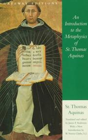 Cover of: An introduction to the metaphysics of St. Thomas Aquinas: texts