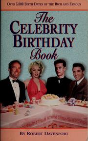 Cover of: The celebrity birthday book