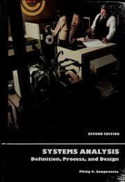 Cover of: Systems analysis | Philip C. Semprevivo