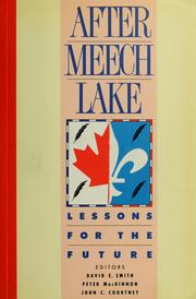Cover of: After Meech Lake | David Edward Smith, Peter MacKinnon, John C. Courtney