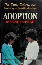 Cover of: Adoption | Jeanne DuPrau