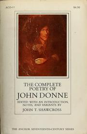 Cover of: The complete poetry of John Donne