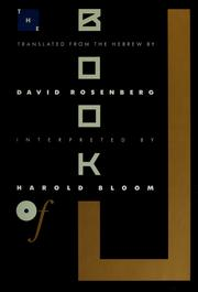 Cover of: The book of J | Rosenberg, David, Harold Bloom