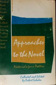 Cover of: Approaches to the novel