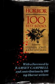 Cover of: Horror 100 Best Books