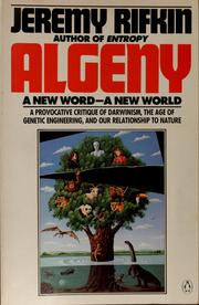 Cover of: Algeny: A New Word--A New World