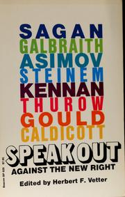 Cover of: Speak out, against the New Right