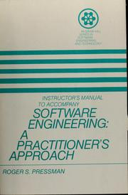 Cover of: Instructor's manual to accompany software engineering