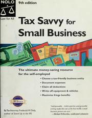 Cover of: Tax savvy for small business | Frederick W. Daily