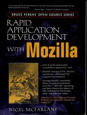 Cover of: Rapid application development with Mozilla | Nigel McFarlane
