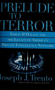 Cover of: Prelude to terror | Joseph John Trento