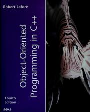 Cover of: Object-oriented programming in C++ | Robert Lafore