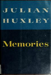 Cover of: Memories