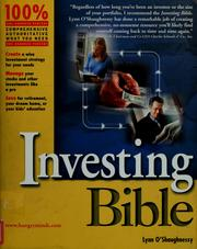 Cover of: Investing bible | Lynn O