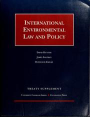 Cover of: International environmental law and policy | Hunter, David