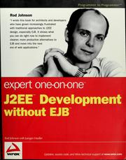 Cover of: Expert one-on-one J2EE development without EJB | Rod Johnson