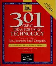 Cover of: 301 great ideas for using technology from America's most innovative small companies