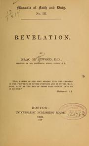 Cover of: Revelation | I. M. Atwood